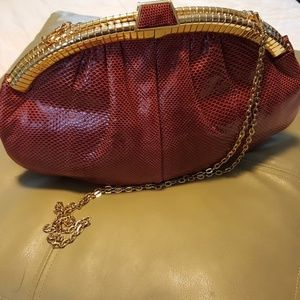 Vintage Judith Leiber Clutch w/Gold  Chain. OBO